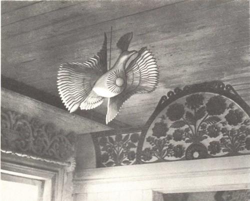 А. Петухов. Птица-Солнце. 1975. Архангельская обл., Кон ошский р-н, пос. Волошка