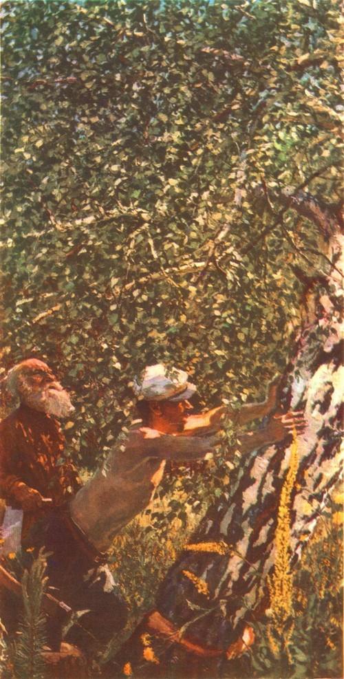 А. Пластов. Смерть дерева. Масло. 1962