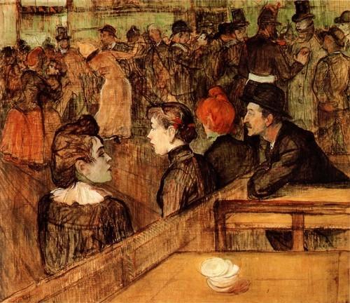 Бал в Мулен де ла Галетт. 1889 Масло, холст, 88,9 х 1013 см Чикаго, Институт искусств