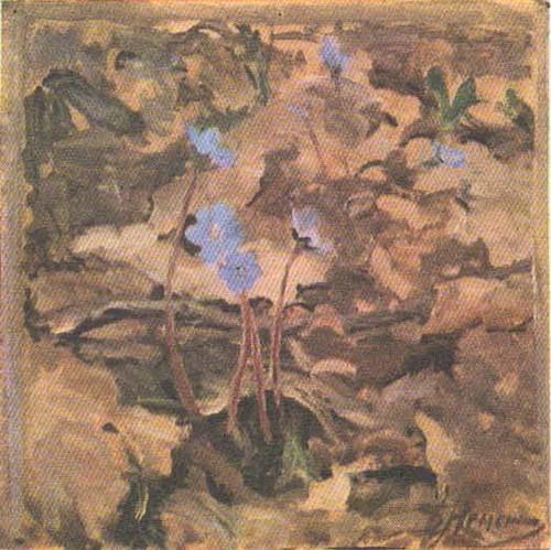 Б. Немекский. Этюд к картине «Дыхание весны». Масло. 1954.