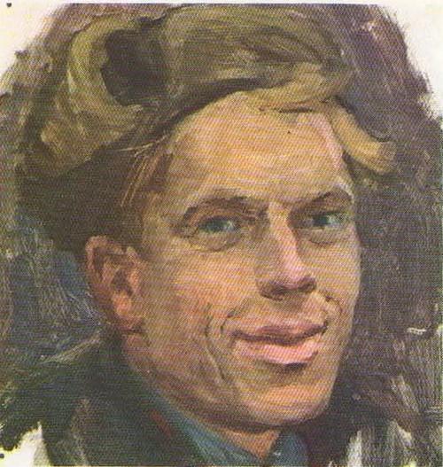 Б. Неменский. Этюд к картине «Дыхание весны». Написан с В. Солоухина. Масло. 1954.