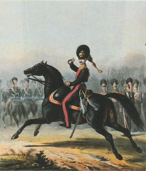 Гренадеры конные. Раскрашенная литография П. Верне. 1840-е гг. Государственный Исторический музей