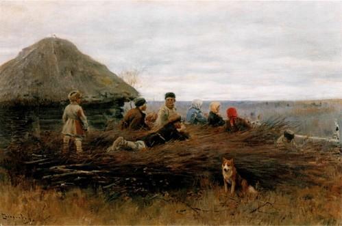 Дети на хворосте. 1899 Ульяновский областной художественный музей