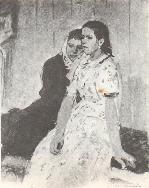 Д. Мочальский. «Подружки». Масло. 1957.
