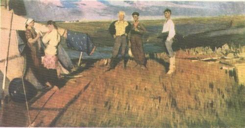 Д. Мочальский. Эскиз картины «Молодожены». Карандаш.