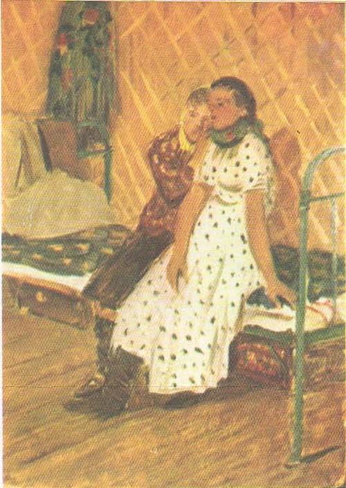 Д. Мочальский. Этюд и эскиз к картине «Подружки». Масло. 1957.