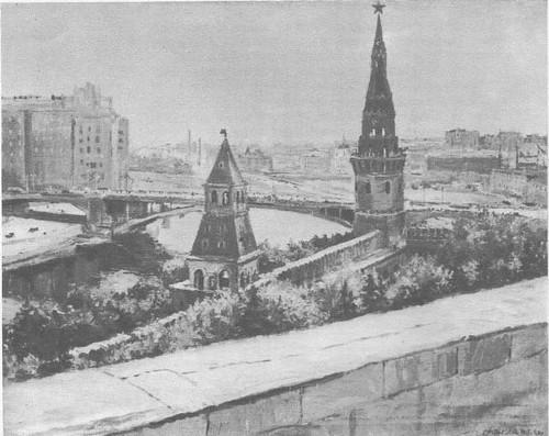 Д. Налбандян. Москва Кремлевский пейзаж. Масло. 1947