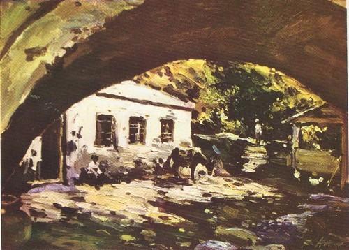 Д. Налбандян. Старая мельница в Аштараке. Масло. 1964.