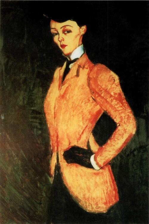Женщина в желтом жакете (Амазонка) 1909