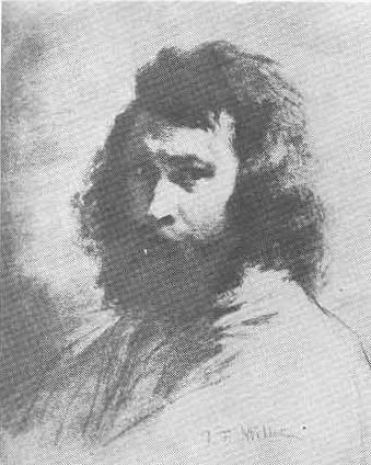 Ж.-Ф. Милле (1814—1875). Автопортрет. Уголь. 1847.