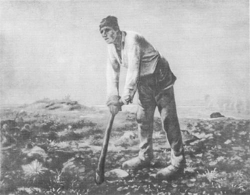Ж.-Ф. Милле. Человек с мотыгой. Масло. 1863.