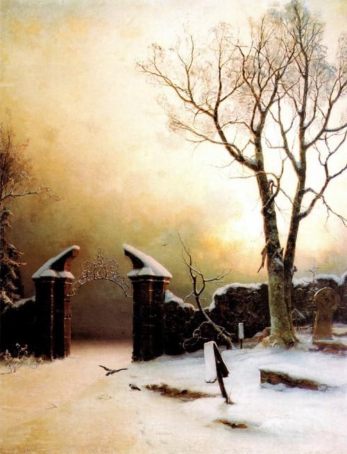 Заброшенное кладбище зимой. 1890 Государственный Русский музей , Санкт-Петербург