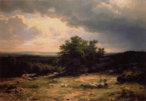 Вид в окрестностя х Дюссельдорфа. 1865