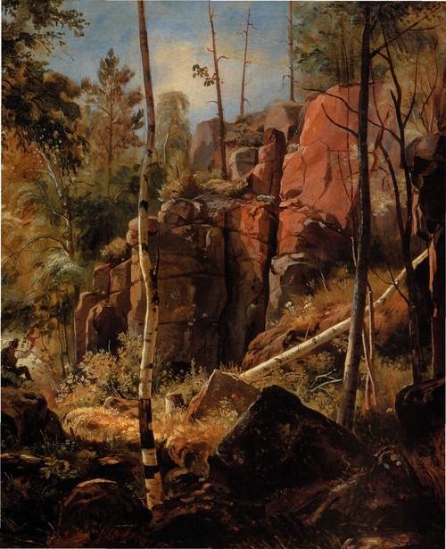 Вид на острове Валааме . Местность Кукко 1859-1860 Фрагмент