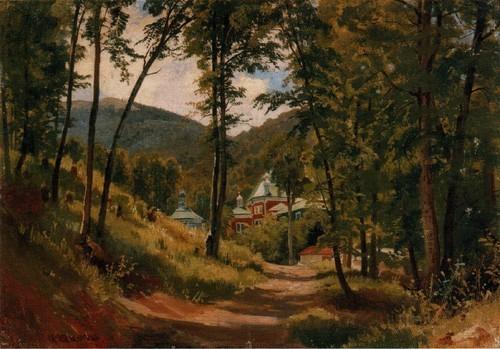 В К рыму . Монастырь Козьмы и Дамиана под Чатырдагом . 1879