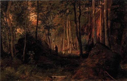 Пейзаж с охотником . Остров Валаам. 1867