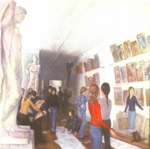 И. Штеренберг. 17 лет. Перед открытием школьной выставки. Масло. 1978.