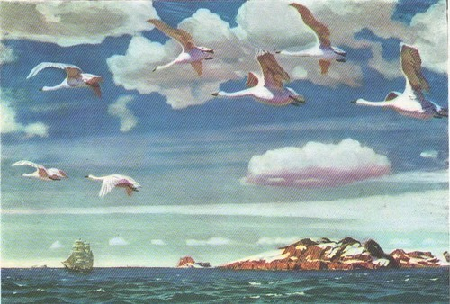 Картина В голубом просторе Рылова Аркадия Александровича