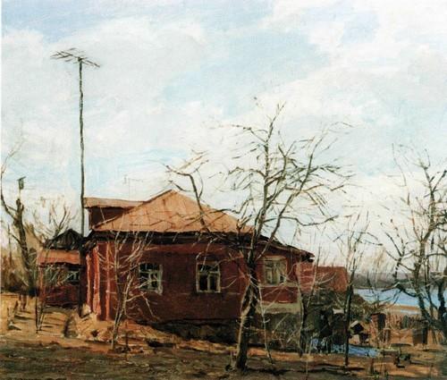Красный дом . Апрель . 1973