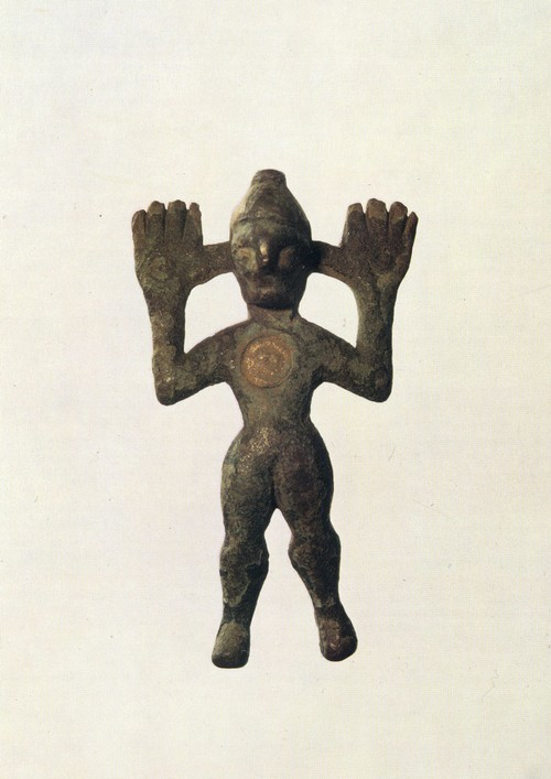 Культовая фигурка. Бронза, литье. Конец 1 тыс. до н. э.