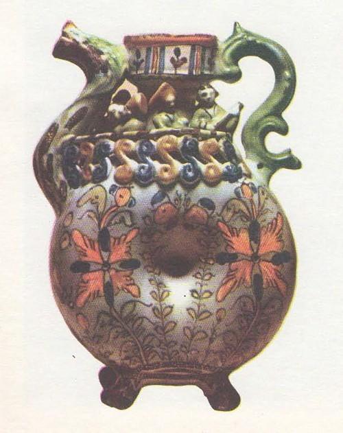 Кумган для двух напитков. Майолика. Последняя треть XVIII века.