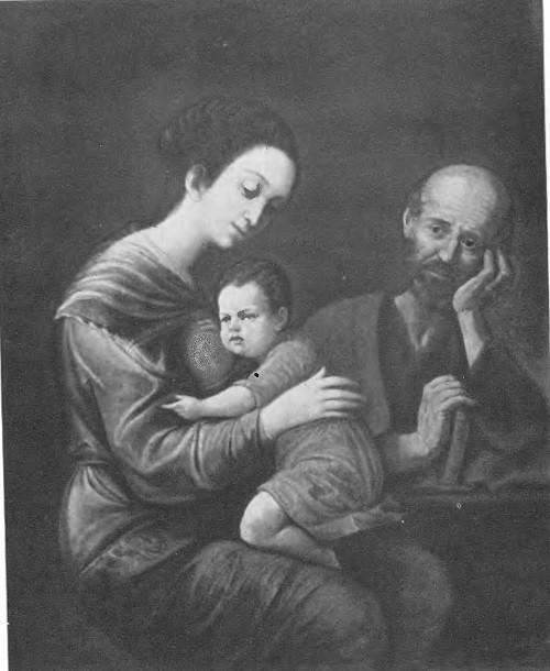 Луис Моралес. Святое семейство. Масло. 2ая половина XVII века