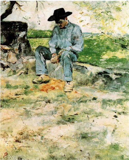 Молодой Рути. Около 1882-1883 Масло, холст, 65 х 48,8 см Мюнхен, Новая пинакотека