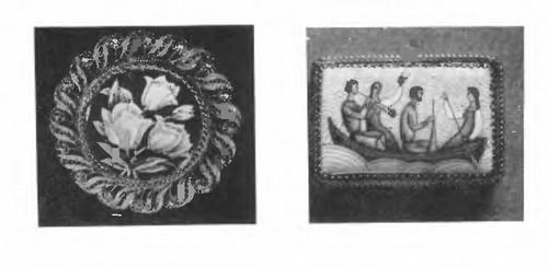 М. Тонне. Брошь. Эмаль, скань. 1954. А. Тихов. Катанье. Эмаль, скань. 1974.
