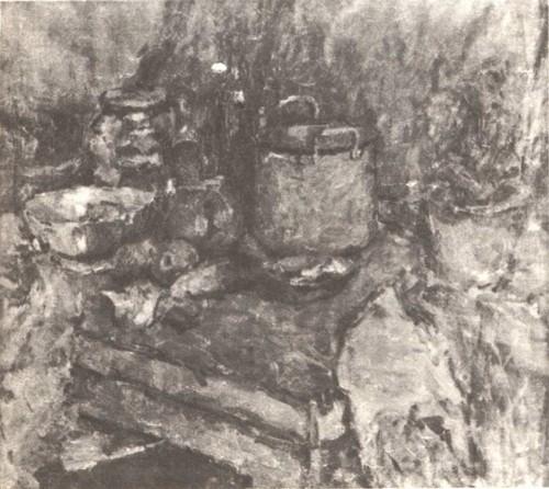 Н. Калинович. 15 лет. Натюрморт. Масло. 1941.