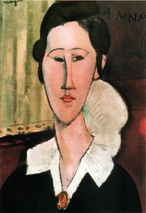 Портрет Анны Зборовской . 1917 Национальная галерея современного искусства, Рим