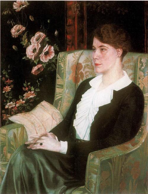 Портрет Евдокии Николаевны Глебовой, сестры художника. 1915