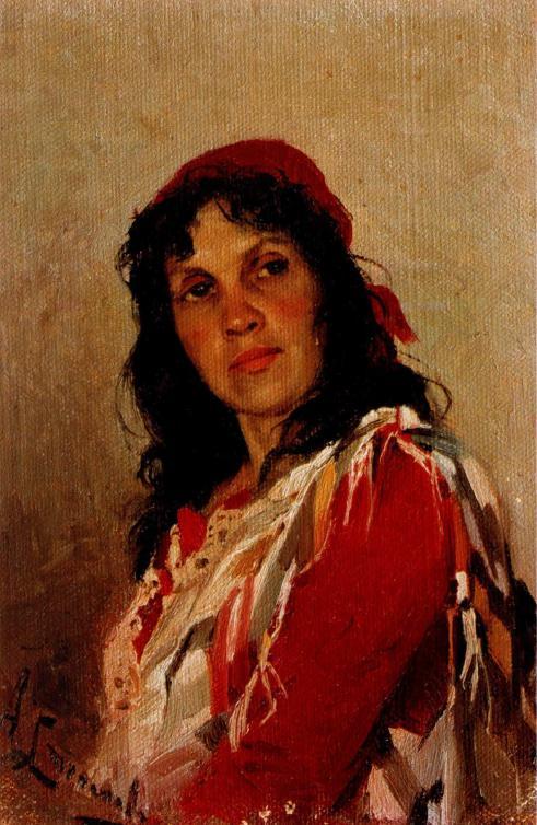 Портрет Кувшинниковой. 1888-1889 Государственный Литературный музей, Москва
