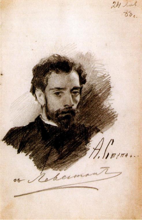 Портрет Левитана. 1888 Национальный художественный музей Республики Беларусь, Минск