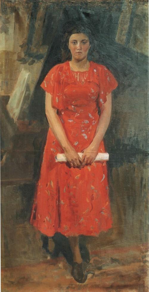 Портрет Т.И . Куликовой. 1938