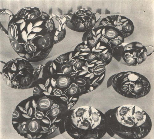 П. Леонов. Сервиз «Песня». 1952.