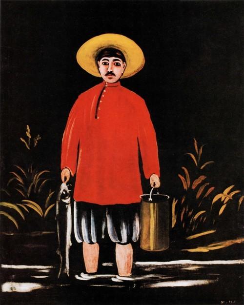 Рыбак в красной рубашке. Государственный музей искусств Грузии , Тбилиси