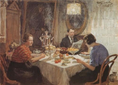 Семья за столом. 1938 Иван Куликов