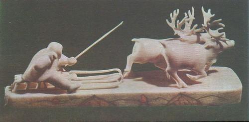Сценки из народного быта. Моржовая кость. Тобольск.