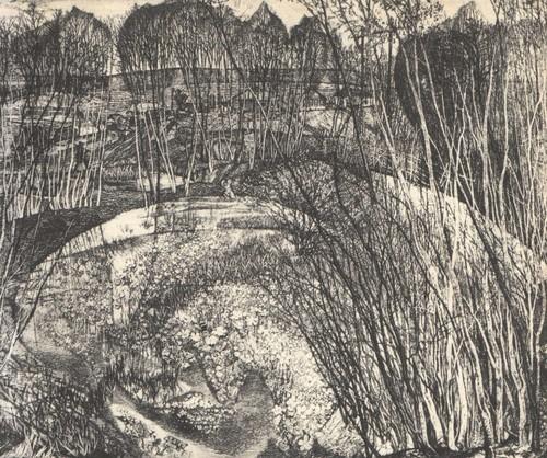 С. Никиреев. Соловьиные места. Офорт. 1972.