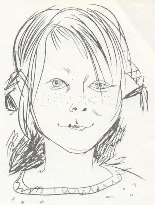 Т. Салахов. Оля. Цветные карандаши. 1965.