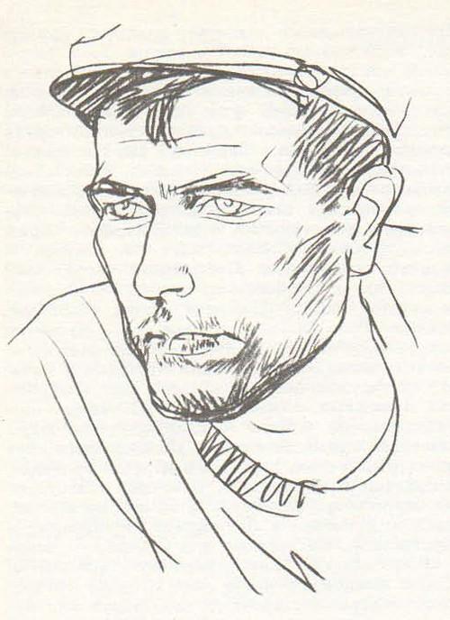 Т. Салахов. Мужская голова. Этюд для картины. Карандаш. 1962.
