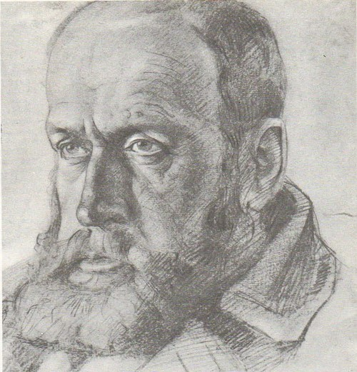Т. Яблонская. Натурщик. Карандаш. 1934.
