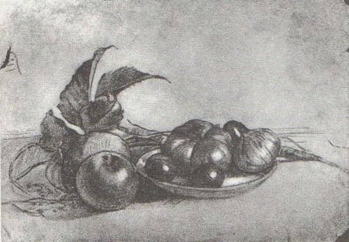 Т. Яблонская. Натюрморт. Карандаш. 1935.