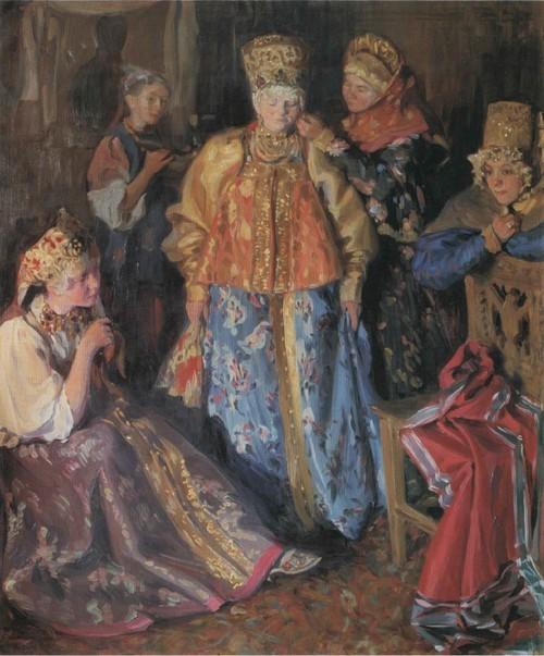 Убор невесты . 1907
