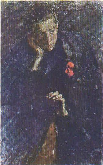 Учительница. (Этюд с Ларисы Кугач.) Масло. 1959.