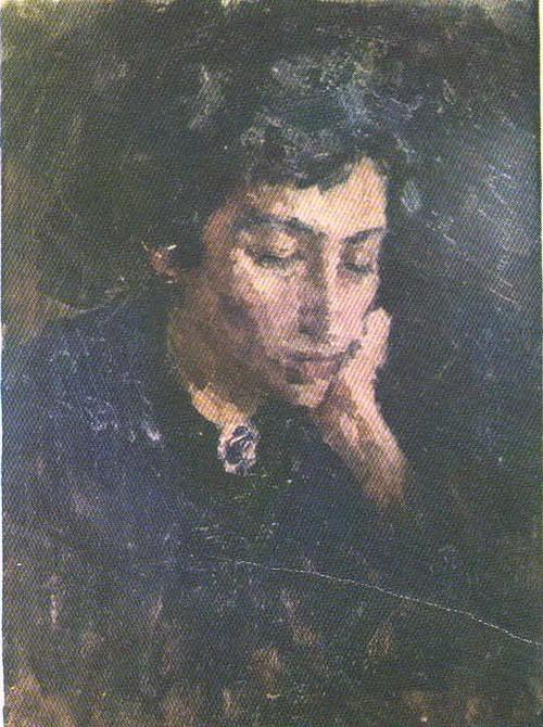Учительница. (Этюд с Эллы Ганкиной.) Масло. 1958.