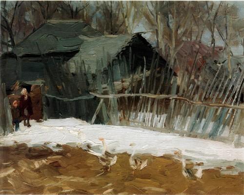 Федор Шапаев Дворик 1956