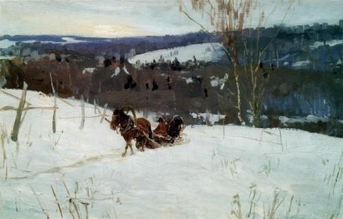 Федор Шапаев Зимой. 1956