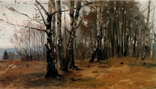 Федор Шапаев Поздняя осень. Березы . 1955