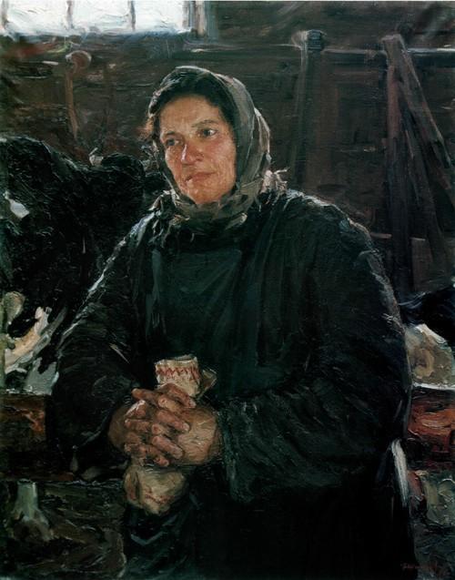 Портрет доярки У.И. Портновой. 1956